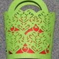 bags; of felt; cut; fancy design
