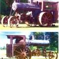 begagnad; traktor; motor; samlarobjekt
