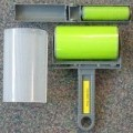 of plastic; with handle