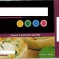vatten; livsmedelsberedning; djupfryst; ost; fryst; i detaljhandelsförpackning; smör; mjöl; bakad; ägg; majsstärkelse