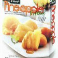 Ananasstücke im Teigmantel  Antragsangaben: ASIA Desserts Pineapple Fritter with Honey Caramel Sauce 200g. Zutaten: Pineapple 33.80 %, Fritter Mix Powder 41.20 % (Corn Flour, Wheat Flour, Rice...