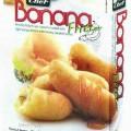 Bananenstücke im Teigmantel  Antragsangaben: ASIA Desserts Banana Fritter with Honey Caramel Sauce 200g. Zutaten: Banana 33.80 %, Fritter Mix Powder 41.20 % (Corn Flour, Wheat Flour, Rice Flour,...
