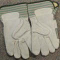 of leather; of cotton; woven; protective gloves