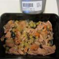 wortels, groenten; visproducten; in blikken