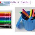 pencils; scissors; of plastic; put up for retail sale; markers