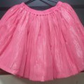 for girls; skirts; of polyester; knitted; multilayered