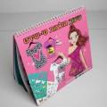 """Bei der vorgelegten, als """"Schablonenmalbuch mit Spiralbindung"""" bezeichneten Ware handelt es sich um ein Malbuch für Kinder (Format etwa 26,4 x 23,8 cm, mit abgerundeten Ecken, Drahtkammbindung),..."""