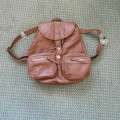 a small rucksack / backpack. it's got two fixed straps for over…