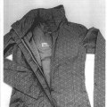 of cotton; with hood; woven; with sleeves