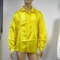 Hemd, sog. Rüschenhemd mit Knopfleiste, Art. 68581, Größe 54, Foto siehe Anlage, - in einer Plastikhülle mit Papiereinleger verpackt,  - aus ca. 0,2 mm dicken, einfarbigen Geweben aus laut...