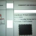 iš tekstilės medžiagos; apmušti; sėdimieji baldai; kėdės; su…