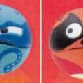 """Spielzeug aus Kunststoff in Form von zwei Kugeln mit Tiergesichtern (McDonald's - Gobsmax 2016, Motiv """"Swipe/Otto (France)"""") - jeweils aus zwei Halbkugeln aus starrem Kunststoff..."""