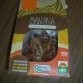 banana; para venda a retalho; fruta seca; acondicionado no vacuo; desidratado