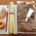 zboží upravené v sadách; k dekoraci; lepidla; rostlinné materiály;…