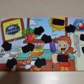 voor kinderen; producten van bedrukt papier; dubbelzijdig