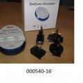 Akkumulatorenladegerät, - in einem speziell geformten, annähernd ovalen Kunststoffgehäuse mit zwei Vorrichtungen zum Einlegen der Akkumulatoren, Status-LEDs und zwei elektrischen Anschlussbuchsen, -...