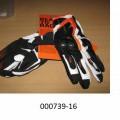 bedruckt; handschuh; leder