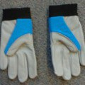 of leather; with elastic; gloves; with velcro; for protection