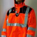 Blouson, sog. Warnschutz-Pilotenjacke e.s. image, Art. 8460646, Größe L, Foto siehe Anlage, - aus verschiedenen, ca. 0,2 mm dicken, einfarbigen, einseitig (Innenseite) wahrnehmbar mit Kunststoff...