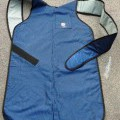 with pocket; of nylon; velcro straps; industrial clothing; aprons