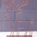 Bei dem sog. LED-Rentier auf Holzpodest, Art.-Nr. 521115, handelt es sich um eine zusammengesetzte Ware, bestehend aus einem ca. 3 cm hohen Holzsockel, einem darauf befestigten kupferfarbenen...