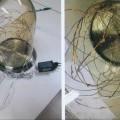 aus metall; elektrisch; aus glas; led; tischlampe
