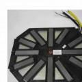 Spule, Induktionsspule, bestehend aus einer flachen Kupferdrahtwicklung auf einer Pappscheibe, mit einer darunter angebrachten achteckigen Kunststoffhalterung mit 12 sternförmig in der Halterung...