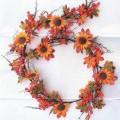 Ware aus künstlichen Blumen und Blattwerk, sog. Herbst-Deko-Girlande, Art. 230328, Foto siehe Anlage, in Form einer ca. 170 cm langen Girlande, bestehend aus - einer Nachbildung eines Zweigs...