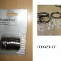 Warenzusammenstellung in Aufmachung für den Kleinverkauf (Blisterpackung), bestehend aus  - zehn Ringen aus Metall (Aluminium gepresst, Außendurchmesser: ca. 34 mm, Innendurchmesser: ca. 25...