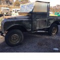 "1955 SERIES 1 86"" LAND ROVER BASIC MODEL. RIGHT HAND DRIVE. 2 DOORS. WAS ORIGINALLY EXPORTED FROM THE UK AS A KIT OF PARTS TO BE ASSEMBLED IN AUSTRALIA IN 1955.  IN ITS ORIGINAL STATE, WITHOUT..."