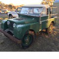 "1955 SERIES 1 86"" LAND ROVER BASIC MODEL.  RIGHT HAND DRIVE. 2 DOORS. GREEN IN COLOUR. WAS ORIGINALLY EXPORTED FROM THE UK AS A KIT OF PARTS TO BE ASSEMBLED IN AUSTRALIA IN 1955.  IN ITS..."