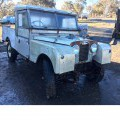 "1957 SERIES 1 109"" LAND ROVER BASIC MODEL. RIGHT HAND DRIVE. 2 DOORS. WAS ORIGINALLY EXPORTED FROM THE UK AS A KIT OF PARTS TO BE ASSEMBLED IN AUSTRALIA IN 1957. IN ITS ORIGINAL STATE, WITHOUT..."