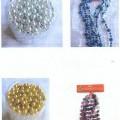 din materiale plastice; de formă cilindrică; pentru decorare; de culori diverse; mărgele