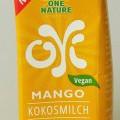 wasser; milch; in aufmach. für den einzelverkauf; kokosnuss; mango