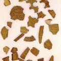 warenzusammenstellung; für die dekoration; kokosnuss; getrocknet; bearbeitet; braun