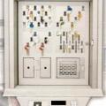 av metall; dörr; panel; med belysningsanordning; nyckel; för…