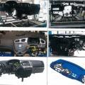 z plastu; zostavený; z kovu; káble; senzory; zostavy; časti motorových vozidiel; navigačné zariadenie; kabíny, časti automobilu