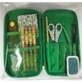 pencils; scissors; goods put up in sets; note books; erasers