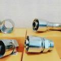 aus stahl; stahl; mit gewinde; rohrverbindungsstück; hydraulisch