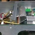 kabler; i et kabinet; motherboards; med usb port