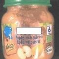 i pakninger til detailsalg; æbler; blandinger; pærer; pureer;…
