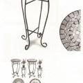 gambe; di metallo; mobili; tavoli