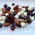terninger, form; mandler; tørrede frugter; af kokos; mørk chokolade;…