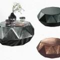 aus metall; möbel; aus aluminium; diamant; tisch; wohnzimmermöbel