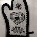 di tessuto; di cotone; di lino; guanti da forno; muffole