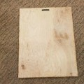 bedrukt; reclameartikelen; van hout; panelen; met voorziening…