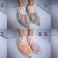 pro hygienické použití; ochranná obuv; z polyethylenu; k ochraně