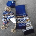 gloves; knitted; put up for retail sale; acrylic; scarves