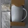 put up for retail sale; chocolate; mugs; stoneware; ceramics;…