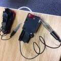 of plastic; electronic; black; games; tweezers